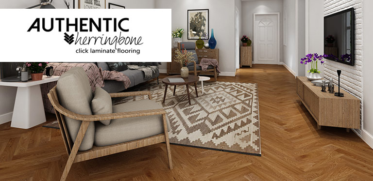 Delightful Herringbone Laminate Flooring