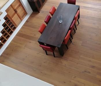 wooden floors in costal golf estate