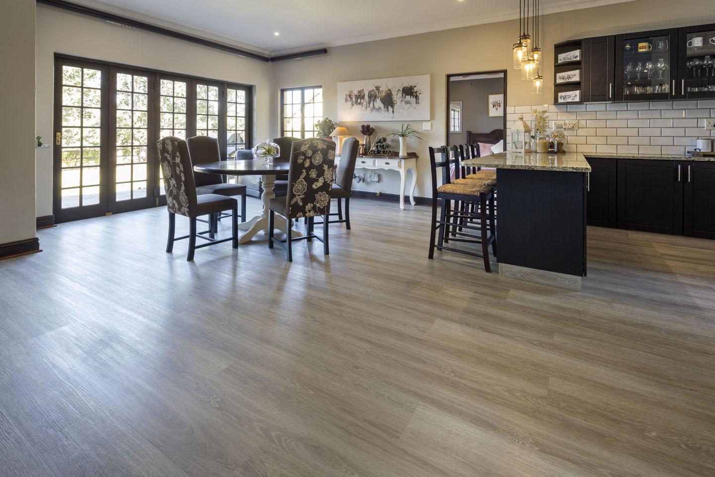 open plan lounge with spc flooring