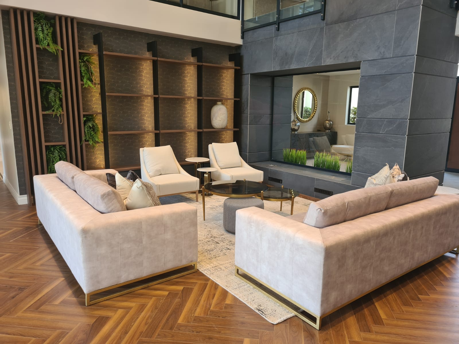 Top carpets in northcliff - Herringbone installation